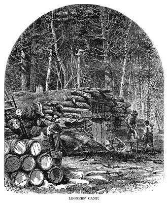 Minnesota Logging, 1870 Art Print