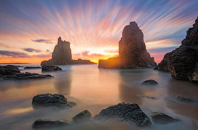 Cathedral Rock Photograph - 3 Minutes by Jingshu Zhu
