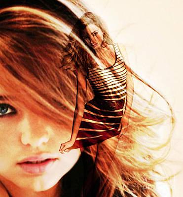Appearance Mixed Media - Miranda Kerr by Marvin Blaine