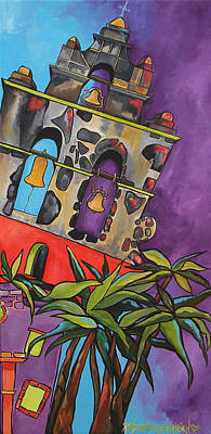 Painting - 3 Missions Panel Two by Patti Schermerhorn
