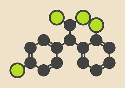 Mitotane Cancer Drug Molecule Art Print by Molekuul