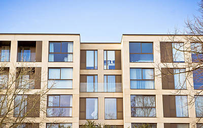 Residential Structure Photograph - Modern Apartments by Tom Gowanlock