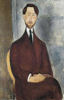 Modigliani, Amedeo 1884-1920. Portrait Art Print by Everett