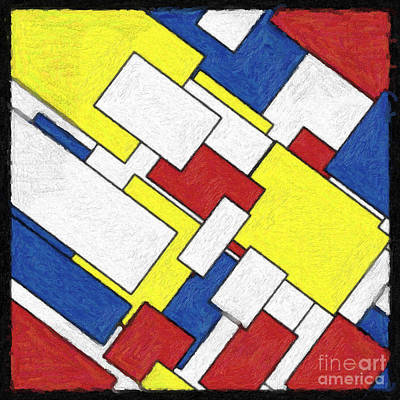 Piet Painting - Mondrian Rectangles by Celestial Images
