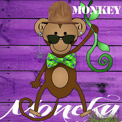 Monkey Mixed Media - Monkey Business Collection by Marvin Blaine