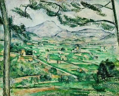Victoire Painting - Mont Sainte-victoire by Paul Cezanne