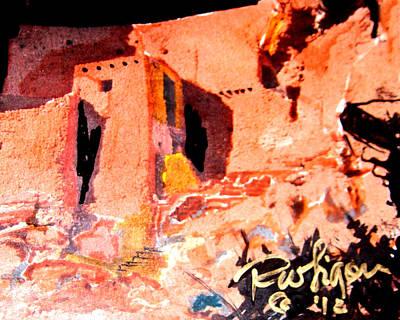 Ruins Mixed Media - Montezuma Castle by Wayne  Ligon