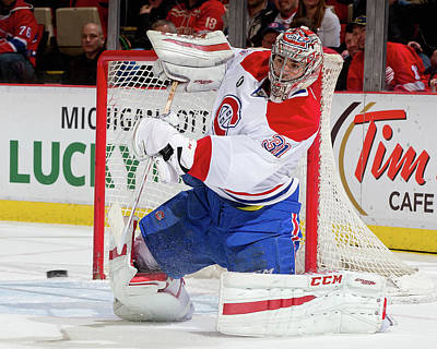 Photograph - Montreal Canadiens V Detroit Red Wings by Dave Reginek