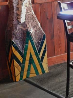 Mosaic Pillar Art Print by Charles Lucas