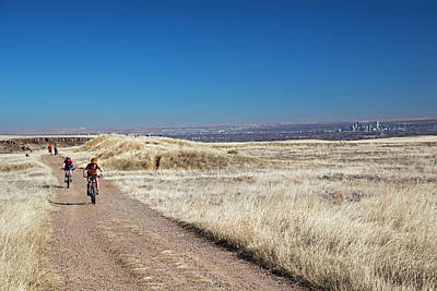 Bike Riding Photograph - Mountain Bikers by Jim West