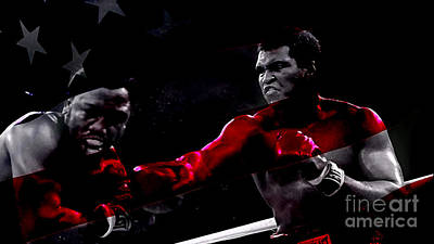 Boxer Dog Mixed Media - Muhammad Ali by Marvin Blaine