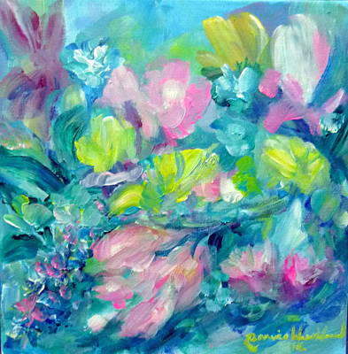 Painting - My Flowers by Wanvisa Klawklean