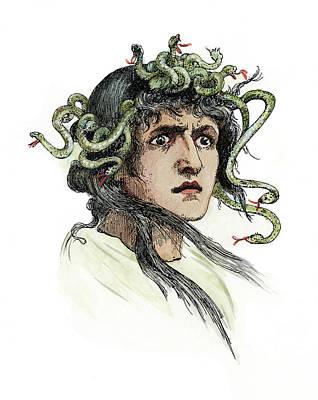Gorgon Painting - Mythology Medusa by Granger