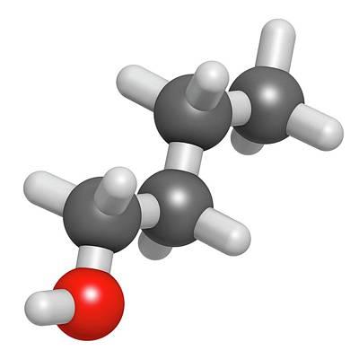 N-butanol Molecule Art Print