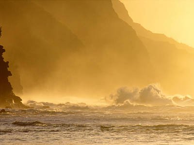 Photograph - Napali Coast Winter Sunset by Robert Lozen
