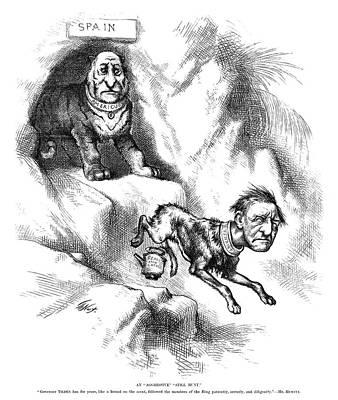Tammany Painting - Nast Tilden Cartoon, 1876 by Granger