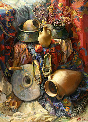 National Armenian Still-life Art Print by Meruzhan Khachatryan