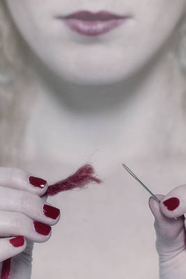 Red Nail Polish Photograph - Needle And Thread by Joana Kruse