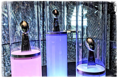 Photograph - 3 New England Patriot Super Bowls by Mike Martin