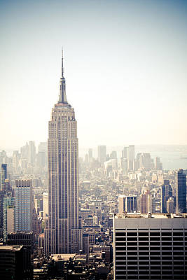 New York City - Empire State Building Art Print by Thomas Richter