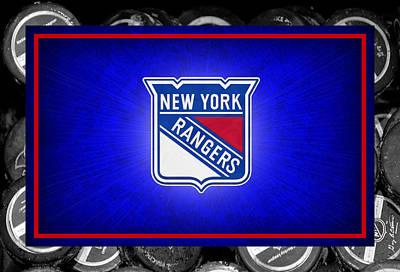 Skate Photograph - New York Rangers by Joe Hamilton