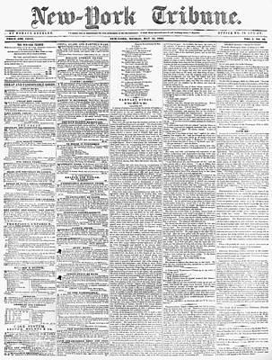 New-york Tribune, 1841 Art Print