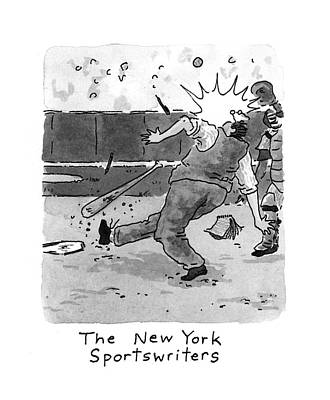 3rd Base Drawing - New Yorker April 5th, 1993 by Danny Shanahan