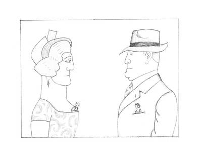 Montage Drawing - New Yorker February 20th, 1995 by Saul Steinberg