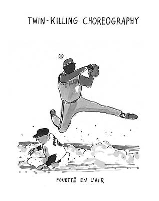Baseball Fields Drawing - New Yorker July 19th, 1993 by Michael Crawford