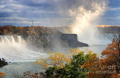 Photograph - Niagara Falls Autumn by Charline Xia