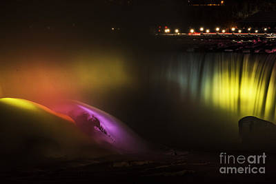 Photograph - Niagara Falls Light Show by JT Lewis