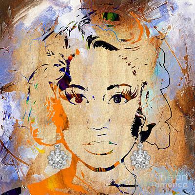 Nicki Minaj Diamond Earring Collection Art Print by Marvin Blaine