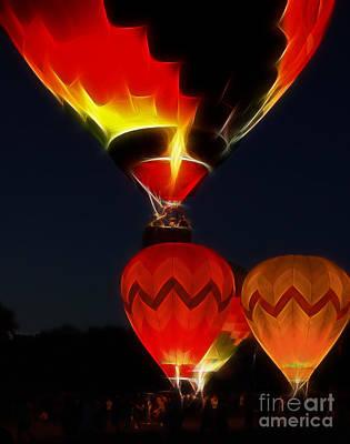 Night Of The Balloons Art Print