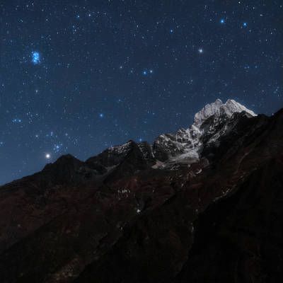 Snowy Night Photograph - Night Sky Over The Himalayas by Babak Tafreshi