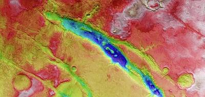 Elevation Photograph - Nili Fossae by European Space Agency/dlr/fu Berlin (g. Neukum)