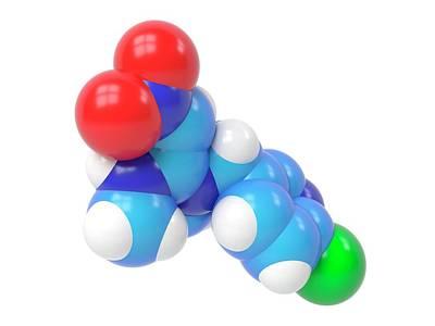 Molecular Model Photograph - Nitenpyram Molecule by Indigo Molecular Images