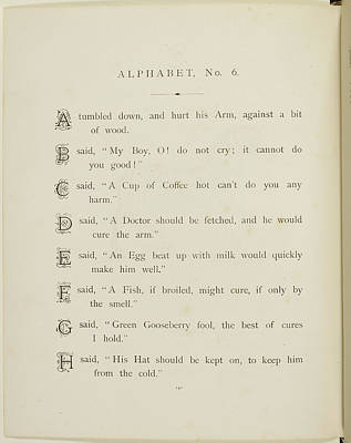Nonsense Alphabets By Edward Lear Art Print by British Library