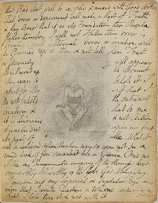 Blake Photograph - Notebook Of William Blake by British Library