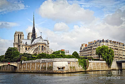 Seine River Wall Art - Photograph - Notre Dame De Paris by Elena Elisseeva