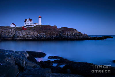 Beach Royalty-Free and Rights-Managed Images - Nubble Lighthouse by Brian Jannsen