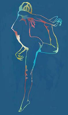 Nude Dancing Pop Stylised Art Poster Art Print by Kim Wang