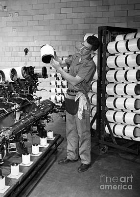 Seaford Photograph - Nylon Production, 1950s by Hagley Archive