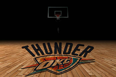 Oklahoma City Thunder Art Print by Joe Hamilton