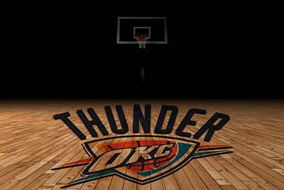 Oklahoma State University Photograph - Oklahoma City Thunder by Joe Hamilton