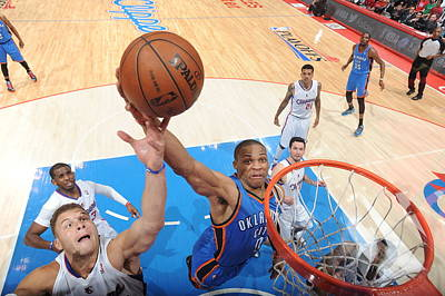 Photograph - Oklahoma City Thunder V Los Angeles by Andrew D. Bernstein