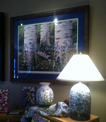 Ceramic Art - Old Aspen Grove by Jennifer Lake