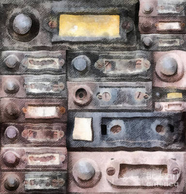 Internet Mixed Media - Old Doorbells by Michal Boubin