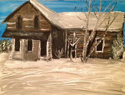 Art Print featuring the painting Old House by Paula Brown