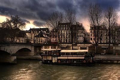 Photograph - old ship in seine river Paris. by Radoslav Nedelchev