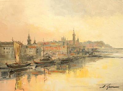 Old Warsaw - Wisla River Art Print